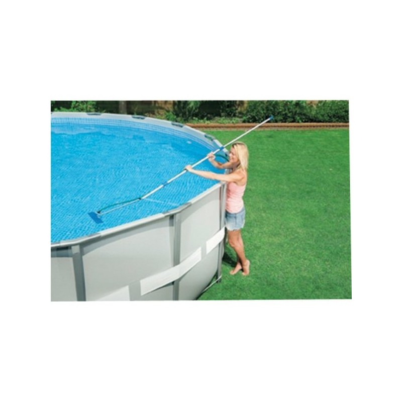 Intex metal ultra frame pool rond 488x122 cm rond sterk for Zwembad metaal