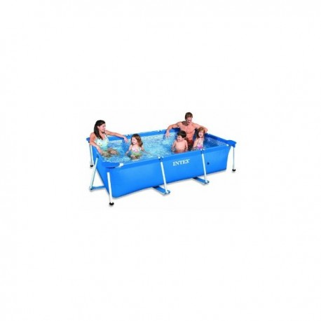 Intex rectangle metal frame pool 220 x 150 x 60 cm for Intex pool 150 cm tief