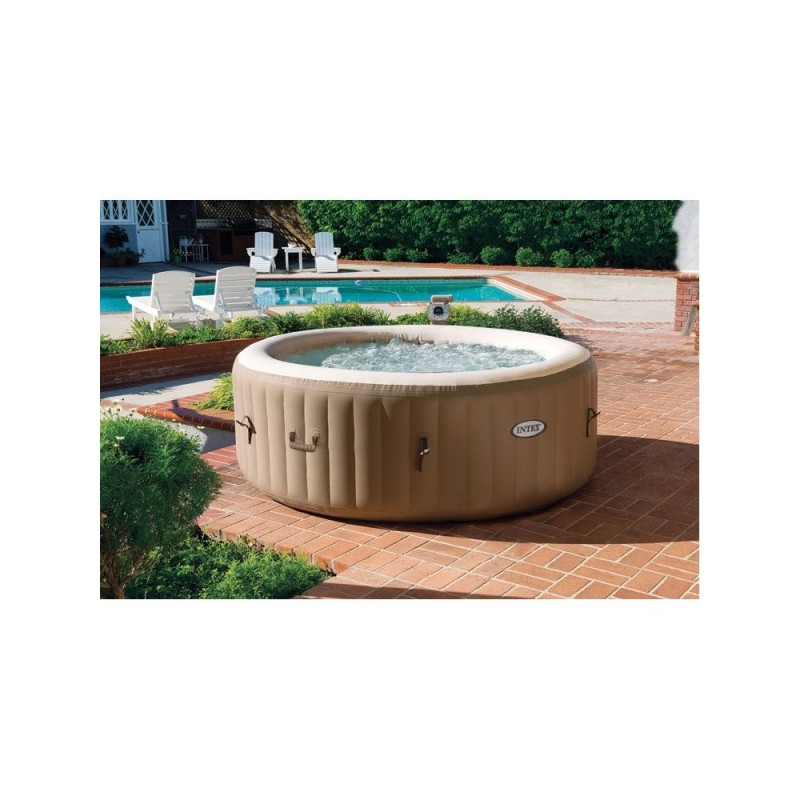Jacuzzi whirlpool kopen intex bubble spa therapy 4 persoons opblaasbare bubblebad pure spa - Pure spa intex ...