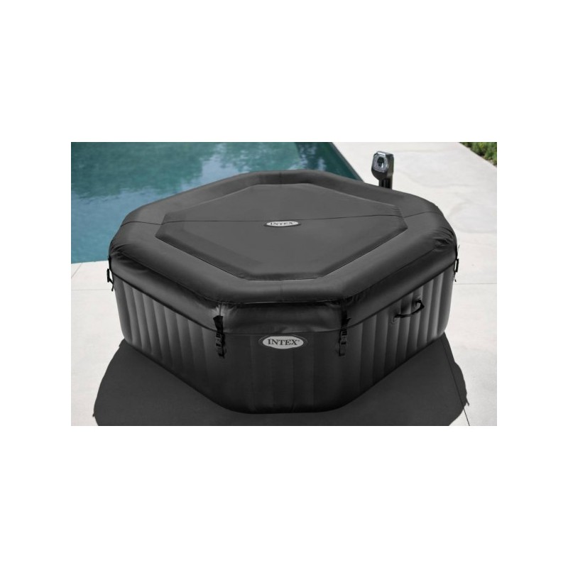 Jacuzzi whirlpool kopen intex purespa jet massage bubble therapie octagon opblaasbare - Pure spa intex ...